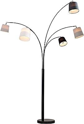 DuNord Design Lámpara de pie (Blanco Negro Gris Mármol 200 cm ...