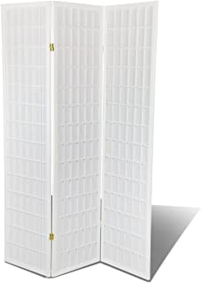 Magshion White Hardwood 3 Panel Shoji Screen Room Divider/Privacy Screen