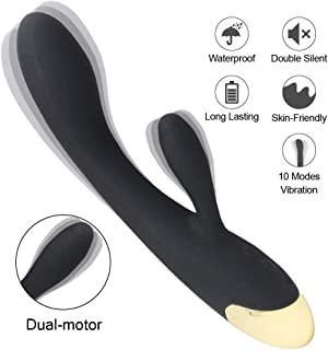 Mobile Handheld Vibrator Electric Rechargeable Waterproof Back Massage, Cordless Multi Speed Body Massage for Relieves (BL)