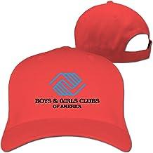 Sofia-qhb Men Women BGCA Boys and Girls Clubs of America Logo Baseball Caps White