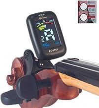 eno Professional Violin Viola Tuner, Colorful LCD Display Easy Control Clip on Accurate Violin Tuner (ET-05SV) (Tuner)