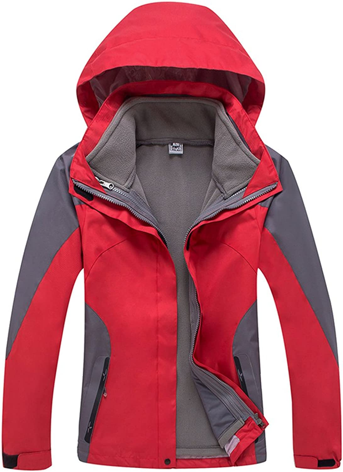 Topway Outdoor Womens 3in1 Windproof Waterproof Breathable Casual Jacket