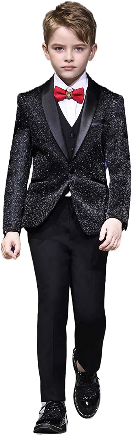 Aimicui 5% OFF Boys Don't miss the campaign Suits Shiny Sequins Slim Formal We Suit Fit Fashion