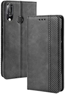 JIANGNI Magnetic Buckle Retro Crazy Horse Texture Horizontal Flip Leather Case for Vodafone Smart X9, with Holder & Card S...