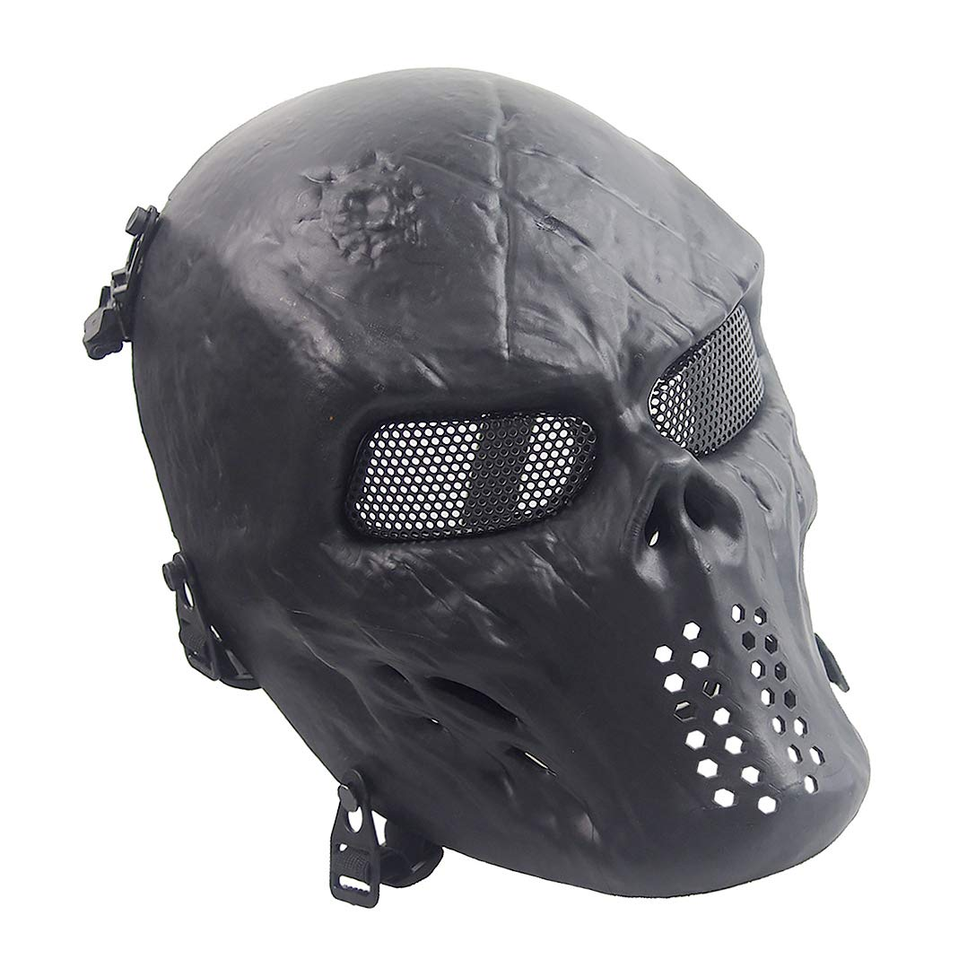 Airsoft Mask Paintball Masks Full Face Skull Masktactical For Halloween Paintball Cosplay Party Bbs Gun Shooting Game Captain Wildfire Black Silver Grey Green Bone Knight Buy Online In India Missing