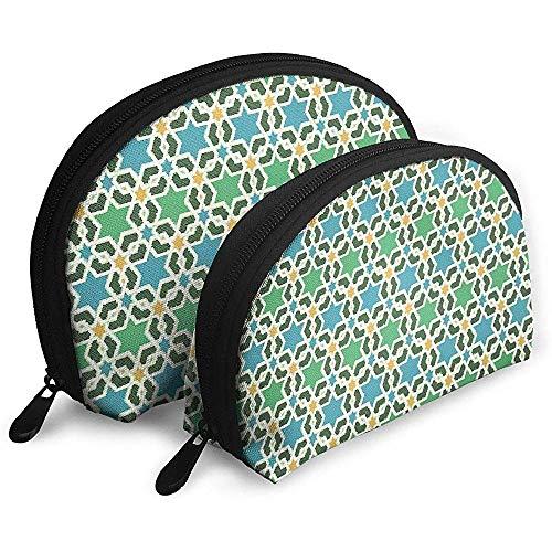 Asiatischen Stil der geometrischen sechseckigen Muster Sterne tragbare Taschen Kosmetiktasche Kulturbeutel Multifunktions tragbare Reisetaschen