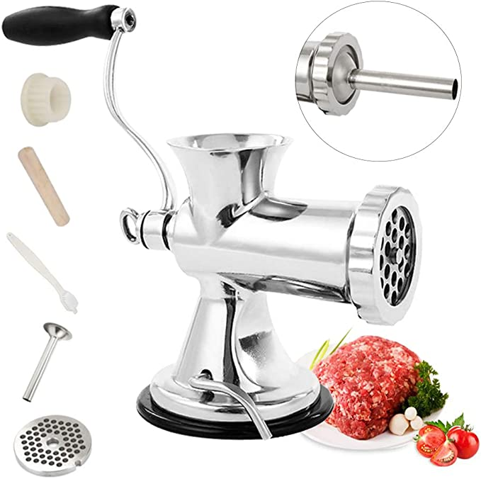 Huanyu Manual Meat Grinder - Best for Meat Grinding and Sausage Stuffing