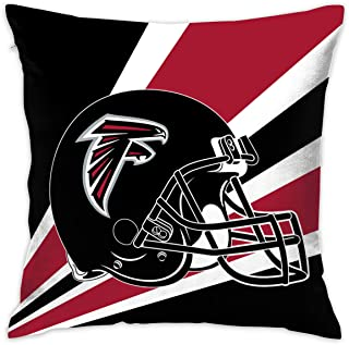Marrytiny Custom Pillowcase Colorful Atlanta Falcons American Football Team Bedding Pillow Covers Pillow Cases for Sofa Bedroom Bedding Car Home Decorative - 18x18 Inches