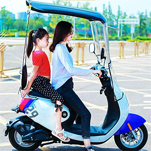 YLKCU Fundas para Motos Universal Car Motor Scooter Paraguas Movilidad Parasol Protector de Lluvia Impermeable, Parabrisas ensanchados, Visera de Motocicleta Parabrisas