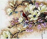 AFHK Rompecabezas 1000 piezas de rompecabezas de madera Accesorios de rompecabezas Rompecabezas y puzzles Diy Rompecabezas adulto Mulan rima flor y pájaro madera juguete divertido juego arte decorac