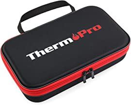 ThermoPro TP99 Hard Carrying Case Storage Bag for TP-20, TP-08S, TP-07 Wireless Remote Digital Cooking Food Meat Thermometer, Shockproof Waterproof Black Travel Protective Case/Box/Organizer