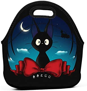 KILILY The Witch'S Familiar Kiki Delivery Service Men Women Kids Insulated Lunch Bag Tote Reusable Lunch Box For Work Picnic School