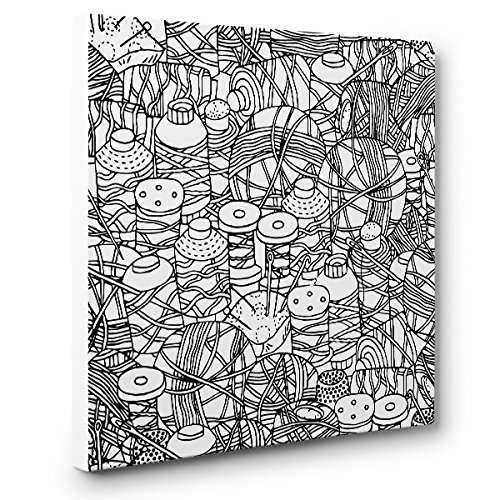 Needle And Thread Art Therapy At the price free Coloring Canvas Decor Home