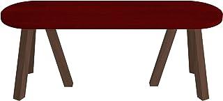 パモウナ ベンチ 座面カデンツァレッドx脚ウォールナット 幅120×高さ35×奥行45 日本製 CNANBE120TCRLWN