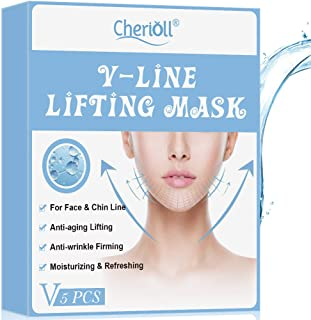 VLine Mask, V Mask, V Lifting Mask, V-LINE LIFTING MASK, Double Chin Reducer, Anti-aging Lifting, Anti-wrinkle Firming, Moisturizing & Refreshing For Face & Chin Line (5Pcs)