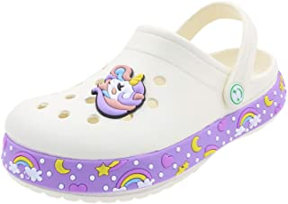 Toddlers Garden Clogs Slipper Kid's Cartoon Unicorn Sandals Clogs Shoes Slides Anti-Slip Lightweight Children Summer Sanda...