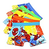 YUMILY 3-8 Years Boys Cool Patterned Boxer Briefs Cotton Character Underwear,5 Pack
