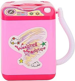 Sminkborste tvättmaskin, elektrisk makeup borste tvättmaskin, rosa mini makeup borste rengöringsmedel enhet, för rengöring...