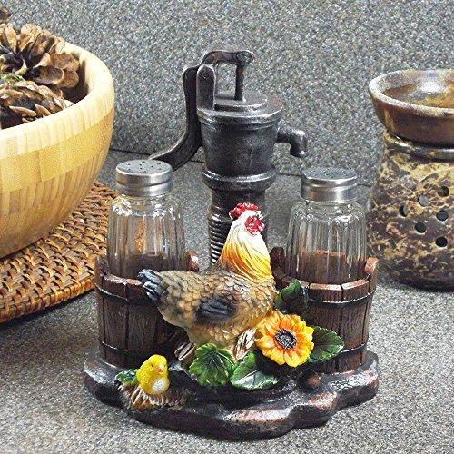 Rooster Themed Salt & Pepper Holders
