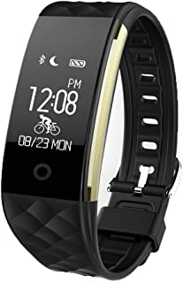 JIAMEIYI Fitness Tracker, Intelligent Heart Rate Blood Pressure Monitor Wearable Pedometer Bluetooth Smart Wristand with Sleep Monitor,Steps Counter,Calories Track for Android and iOS
