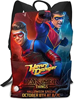 Mochila Unisex, Mochilas y Bolsas, Danger TV Show of Henry School College Bookbag for Girls Boys Fashion Travel Back Pack