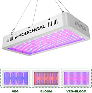 2000W LED Grow Light Full Spectrum, Plant Grow Light with Veg and Bloom Switch for Hydroponic Indoor Plants KOSCHEAL LED Grow Lamp with Daisy Chain
