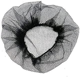 HUELE 10 Pcs Black Reusable Mesh Hair Nets Latex Free Elastic Edge for Cooking