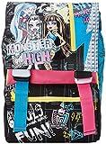 Monster High - Schulrucksack Big mit Gadget, erweiterbar, Elementaren und Medium, 28 Liter, Rosa/Schwarz
