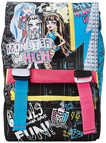 Monster High - Zaino Scuola Sdoppiabile Big con Gadget, Estensibile Elementari e Medie, 28 Litri, Rosa/Nero