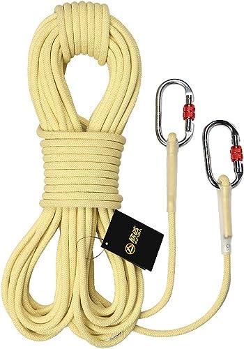 SCJ Cordes Corde d'escalade extérieure, Corde de sécurité de 6 mm, Corde de Rappel, Corde d'escalade, Corde d'escalade, Corde de Nylon, équipement d'évacuation, 20m   15m   10m (Taille  10m)
