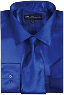 Men's Dress Shirt with Tie/Handkerchief HLSG08 New York Brand