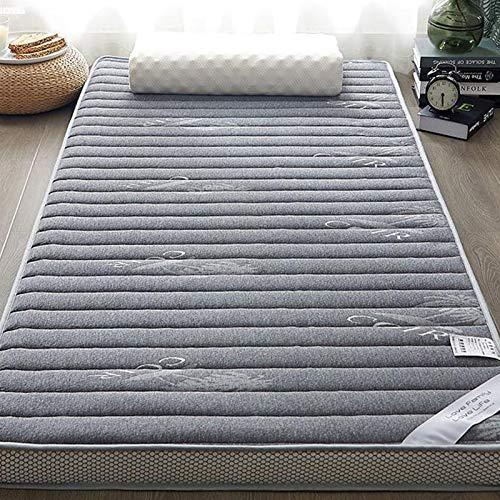 Colchón de cálido colchón de Alta Densidad de látex y Memoria Espuma de Espuma Plegable Piso Lavable tapete para Dormir Solo sofá Cama Tatami (Color : Gris, Talla : 120x200cm)
