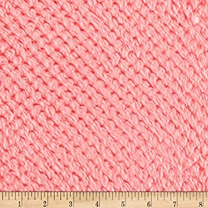 Shannon Fabrics Minky Cloud Spa Cuddle Fabric by The Yard, Coral