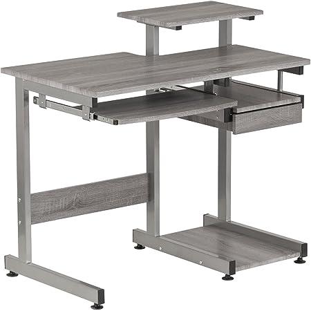 Techni Mobili Complete Computer Workstation Desk, Gray