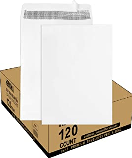 9 X 12 Self Seal Security Catalog Envelopes, HERKKA 120 Pack Security White Catalog Envelopes, Designed for Secure Mailing...