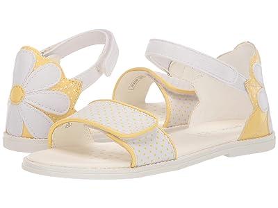 Geox Kids Sandal Karly Girl 30 (Little Kid/Big Kid) (White/Yellow) Girl