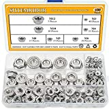 Sutemribor 304 Stainless Steel Hex Flange Nuts Assortment Kit 150 PCS, 7 Sizes - M3 M4 M5 ...