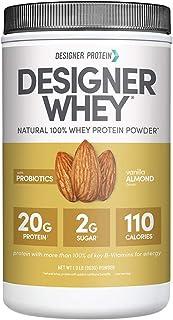 Designer Whey Protein Powder, Vanilla Almond, 1.9 Lb, Non GMO, Made in USA