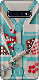 Medical Assistant Uniform Phone Case for Samsung Galaxy S10 Plus - Silicone Case with 3D Printed Design, Slim Fit, Anti Scratch, Shock Proof, IMD Soft TPU Cover Case