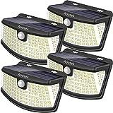 Aootek 新しいソーラーライト 広角²ソーラーパネルに11 8 3随意モード敏感PIRモーションセンサ光 高効率LED アップグレード 原寸 4パック