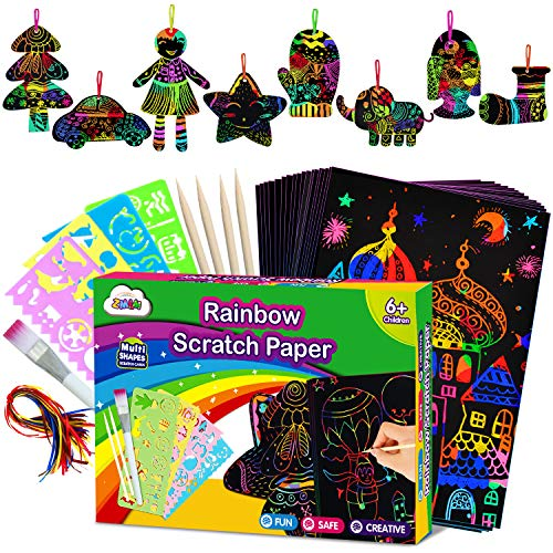 ZMLM Scratch Paper Art Set for Kids