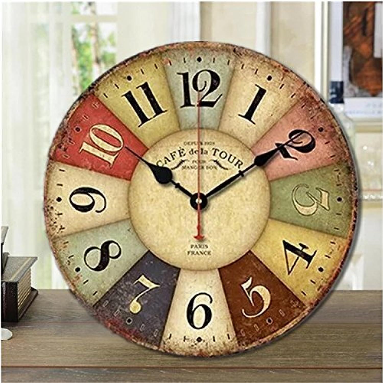 Y-Hui Reloj de parojo Relojes Restaurante Salón silenciado Antiguo reloj Retro Inicio Estudio Dormitorio ornamentos, de 16 pulgadas ,A5