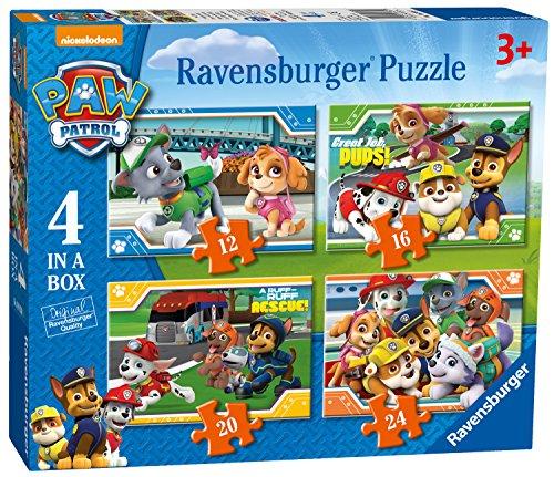 Ravensburger 4 Puzles Patrulla Canina en una Caja (12, 16, 20, 24...