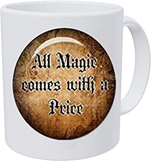 once upon a time jewelry all magic comes with a price necklace glass photo pendant captain hook upon a time necklace swan queen evil queen Coffee Mug Disorder Jewelry