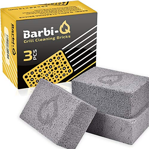 Barbi-Q Grill Cleaning Bricks - Grill Stone | Griddle Cleaner Block - Stone Brick Cleaner for BBQ | Grills | Racks | Flat Top Grill | Pool | Toilet Cleaner - (Pack of 3)