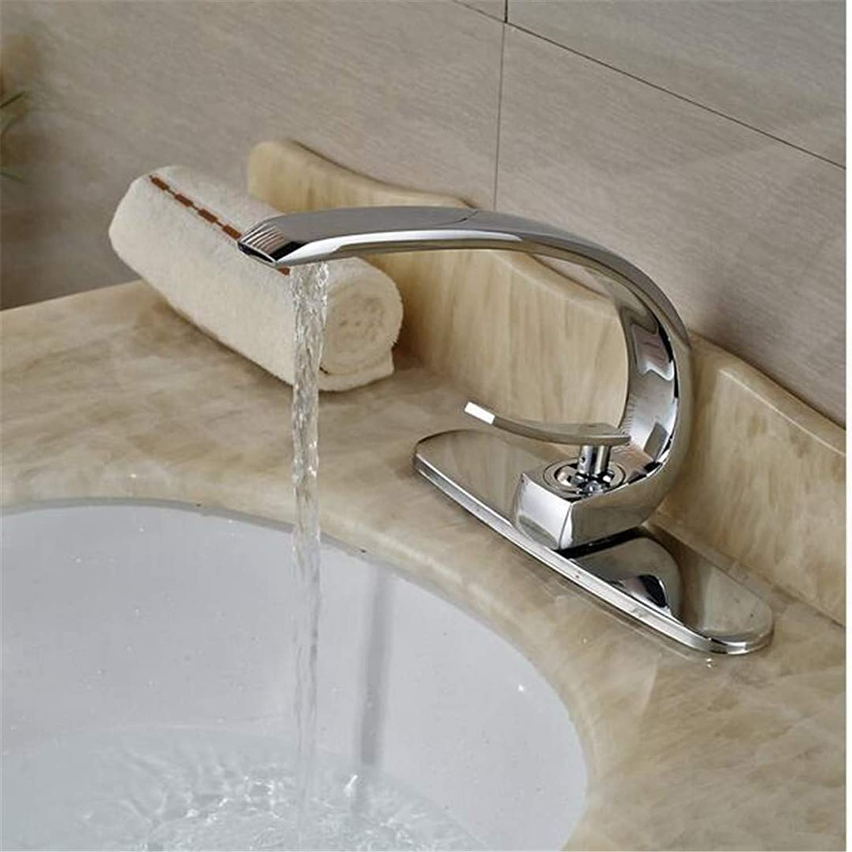 Basin Faucet Bathroom Sink Tap Chrome Deck Mount Bathroom Vanity Sink Mixer Faucet Single Handle Washbasin Mixers