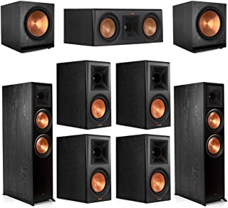 Klipsch7.2.2 Ebony Home Theater System - 2 RP-8060FA, 1 RP-500C, 4 RP-600M, 2 SPL-150 Subwoofers