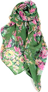 Floral Rose Print Thin & Light Fashion Scarf