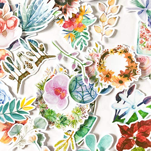 Navy Peony Garden of Dream Catcher Stickers en Bloemstickers | Kleine Waterdichte Stickers voor Laptops, Skateboards en Telefoonhoesjes | Leuke Stickers voor Scrapbooking, Dagboek, Planner en Bullet Journal