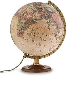 Vidal Regalos Mappamondo da scrivania girevole in metallo 20 cm di diametro